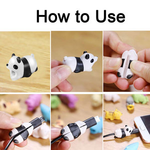 Image 2 - New Cable Winder Cute Animal Bite Cable Protector for iPhone Cable Chompers Winder Organizer Panda Bites Doll Model Holder