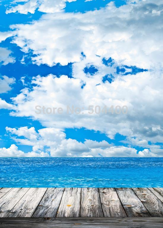 5X10ft Newborn backdrop photography background sky sea backdrop D 1208