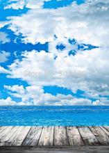5X10ft telón de fondo Recién Nacido telón de fondo de cielo y mar D-1208