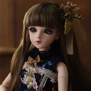 Image 2 - BJD Doll 1/3 Brown Eyes With BJD Clothes Wigs Shoes Makeup 100% Handmade Beauty Toys Silicone Reborn Doll Toy For Children