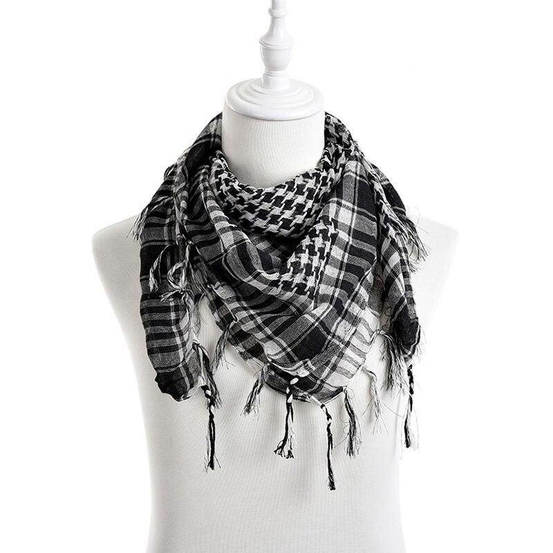 New Unisex 5Colors Women Men Checkered Arab Grid Neck Keffiyeh Palestine Scarf Wrap Hot Sale