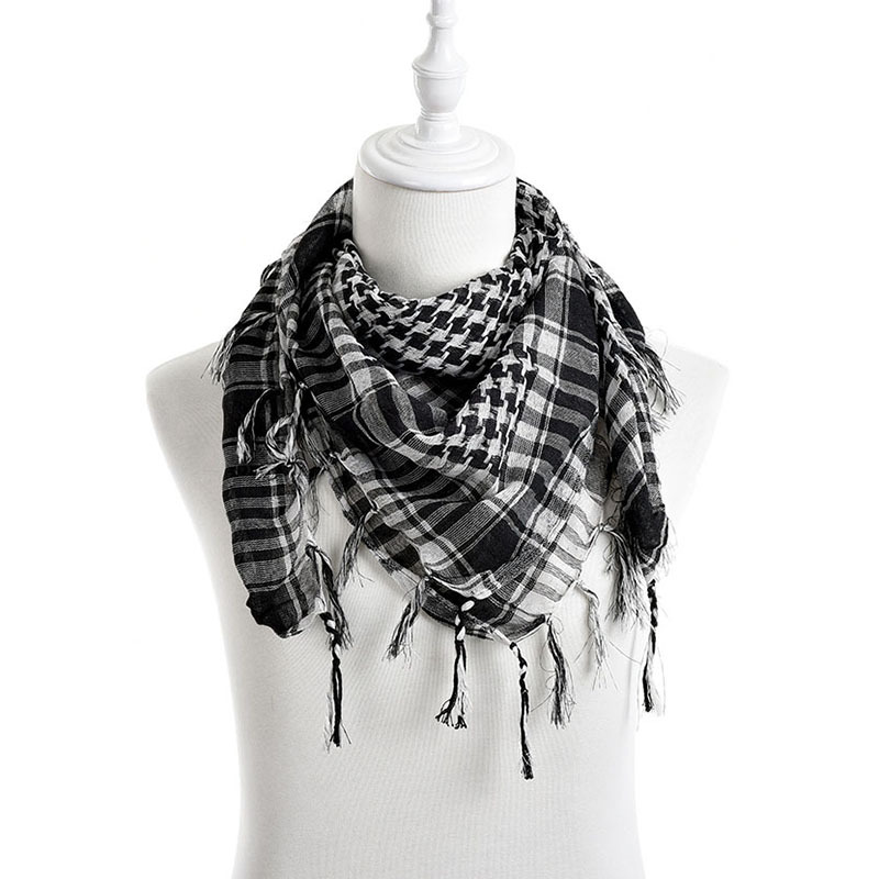 New Unisex 5Colors Women Men Checkered Arab Grid Neck Keffiyeh Palestine Scarf Wrap hot sale