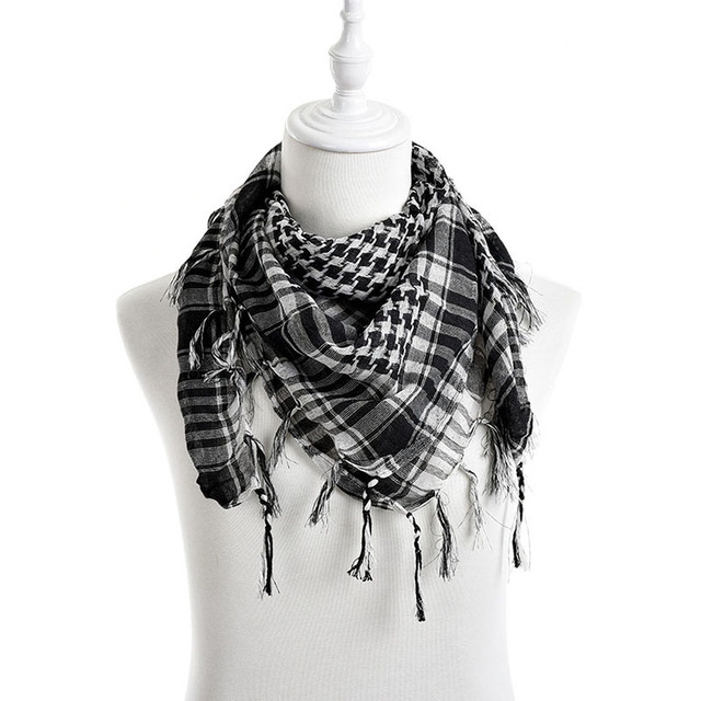 5329312af2d US $1.79 16% OFF|New Unisex 5Colors Women Men Checkered Arab Grid Neck  Keffiyeh Palestine Scarf Wrap hot sale-in Men's Scarves from Apparel ...
