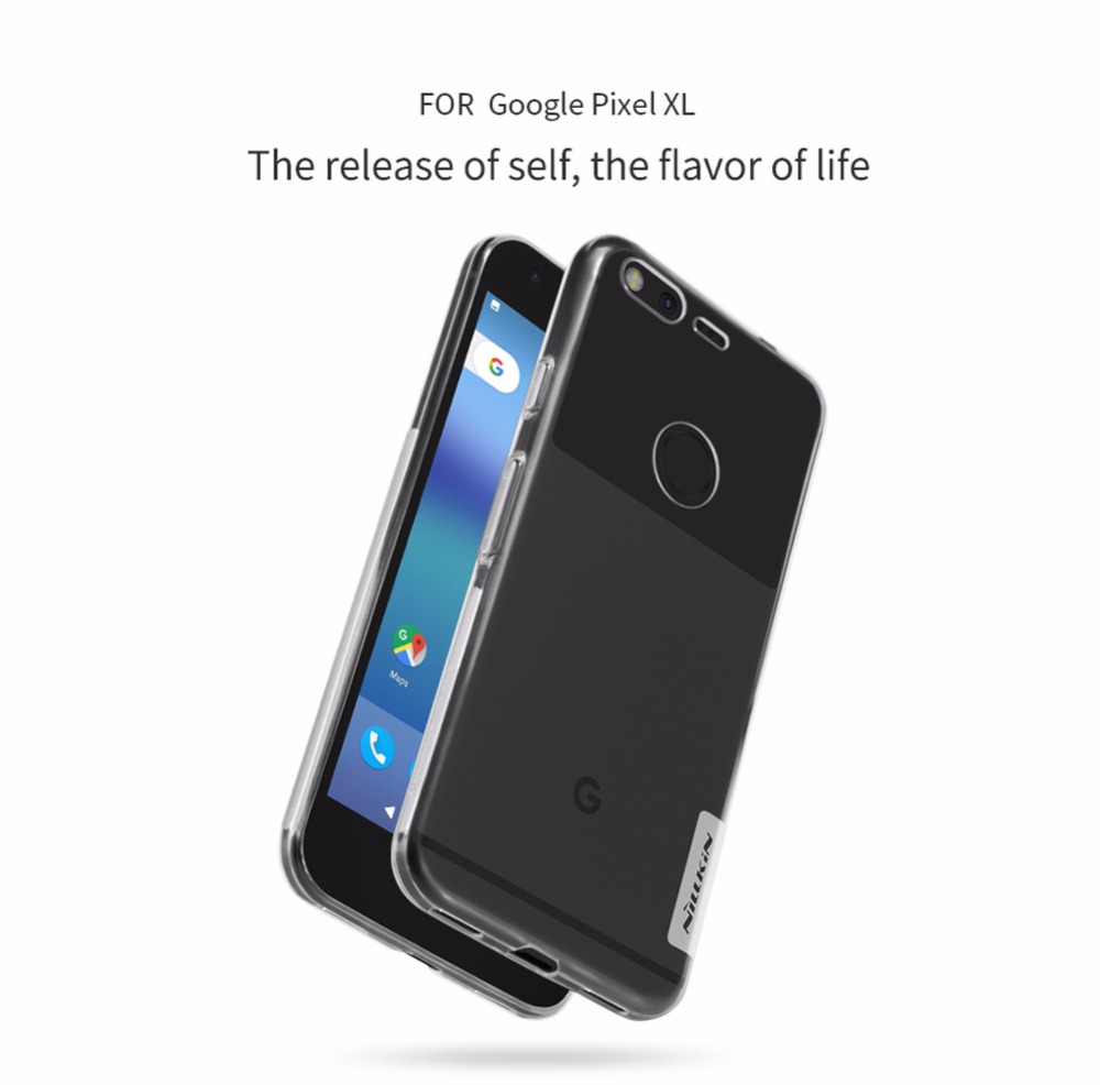 Case For Google Pixel Xl 5.5 Inch Nillkin Nature Soft Silicon Slim TPU Protector Case Cover For Pixel Xl Case Retail Package