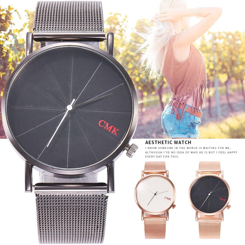 2019 Hot Fashion Quartz Watch Women Watches Female Clock Montre Femme Relogio Feminino Girl Wristwatch Couple Alloy Mesh Relojes