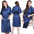 Плюс Размер S-XXXL Район Халат Женщин Кимоно Атлас Длинный Халат Сексуальное Женское Белье Классический Ночной Рубашке Пижамы с Поясом