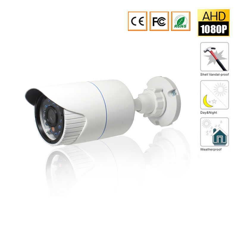 CCTV AHD camera  2.0MP 720P/960P/1080P metal Waterproof IP66 Outdoor 6PCS LEDS Security Surveillance Camera IR Cut