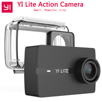 YI Lite Action Camera 1080P Real 4K Sports Camera Support WiFi Bluetooth 2 LCD Touch Screen 150 Degree Wide Angle Lens