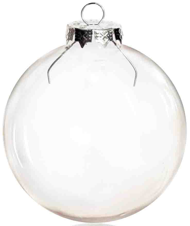 Free Shipping DIY Paintable Clear Christmas Ornament Decoration 80mm Glass Ball Silver Cap, 100/Pack-in Ball Ornaments from Home & Garden    1