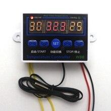 Termostato Digital Controlador de Temperatura 12 V W88 LED Interruptor de Control Regulador de Temperatura para el Acuario Incubadora Sensor de La Sonda