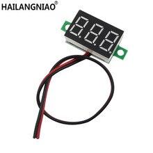 20 adet/grup kırmızı Ikinci çizgi hassas dc dijital voltmetre kafa LED dijital voltmetre DC2.50 0.36 V 32.0 V