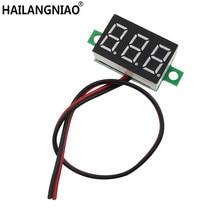 20 unids/lote rojo segunda línea de precisión dc voltímetro digital cabeza LED voltímetro digital DC2.50 0,36 V 32,0 V