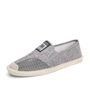Image 5 - 2019 Summer Flat Mens Shoes Breathable Cool Mesh Fisherman Shoes Fashion Slip on Linen Canvas Driving Shoes Man
