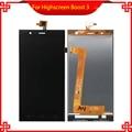 Calidad Original Para Highscreen Boost 3 LCD Pantalla Táctil Digitalizador Asamblea Negro para Highscreen lcd Envío Libre + Herramientas