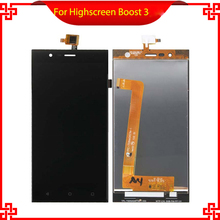 Original Quality For Highscreen Boost 3 LCD Touch Screen Digitizer Assembly Black for Highscreen lcd Free Shipping+Tools