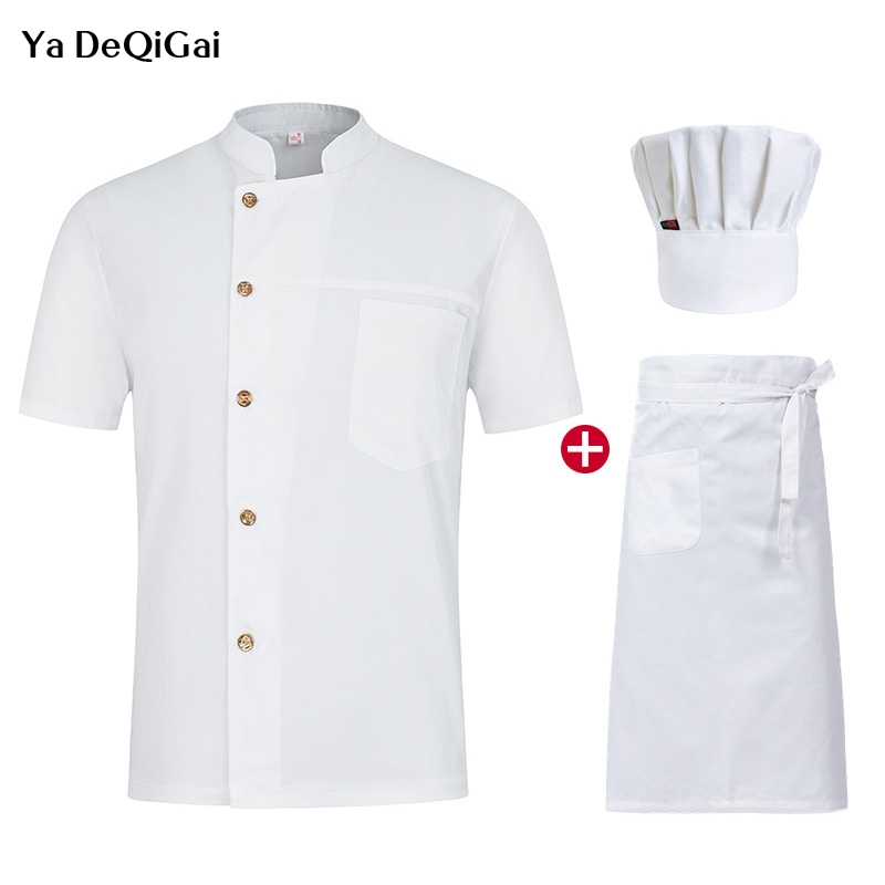 Chef Restaurant Uniforms Shirts Single-breasted Bakery Kitchen Chef Jacket High Quality Hotel Catering  Chef Clothes  Chef Pant