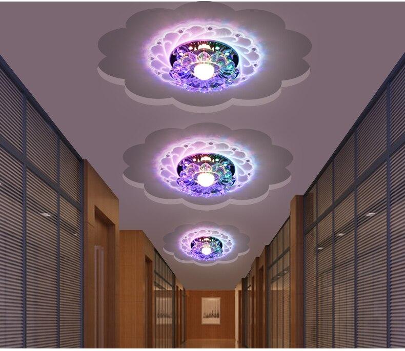 Kathy creativo corridoio luci del corridoio lampada da incasso a LED moderna lampada di cristallo minimalist2017 portico lampada luci di soffitto di casa lampadeKathy creativo corridoio luci del corridoio lampada da incasso a LED moderna lampada di cristallo minimalist2017 portico lampada luci di soffitto di casa lampade
