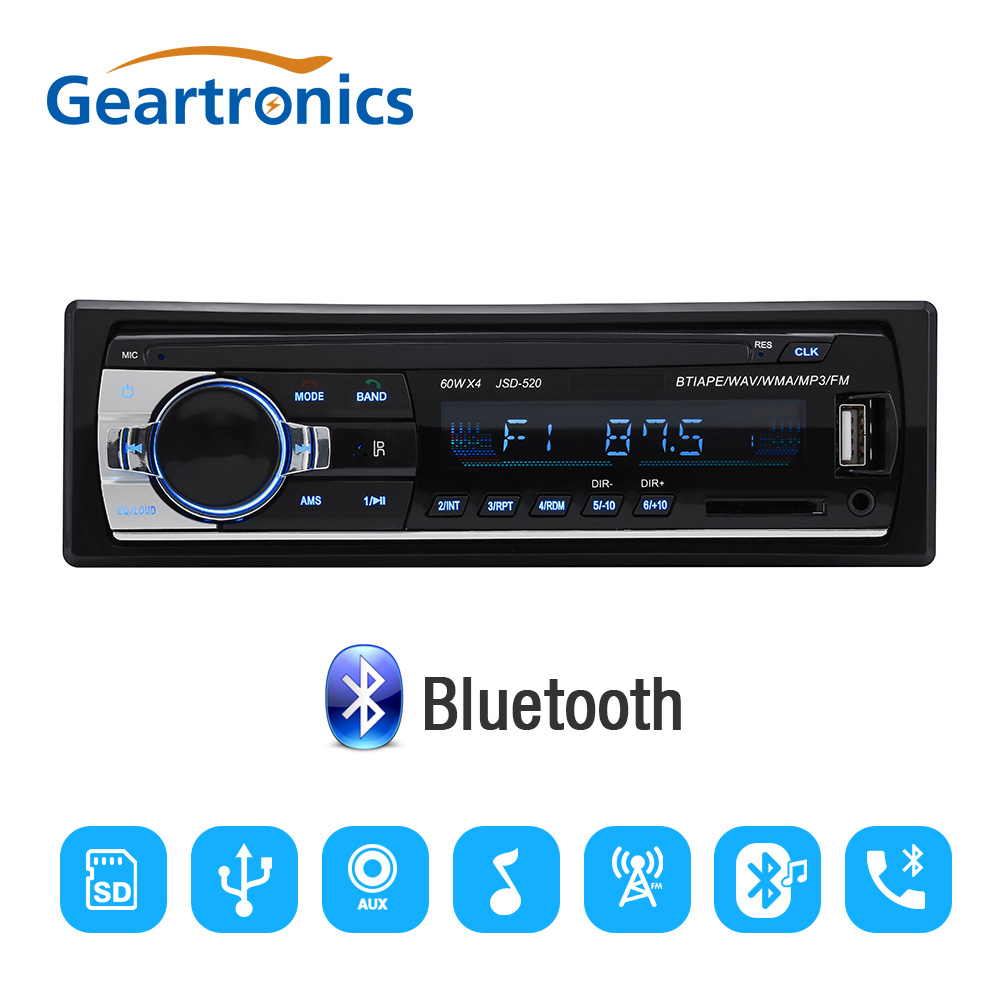 цена на Autoradio JSD520 Car Radio Stereo Player Digital Bluetooth Car MP3 Player 60Wx4 FM Radio Stereo Audio with In Dash AUX Input