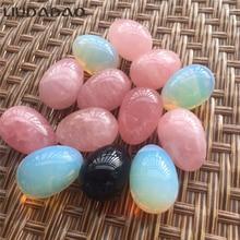 Drilled Stone Yoni Eggs Rose Quartz Kegel Ball Rose Quartz 3Pcs/Set Muscle Body Care Exercise Eggs B