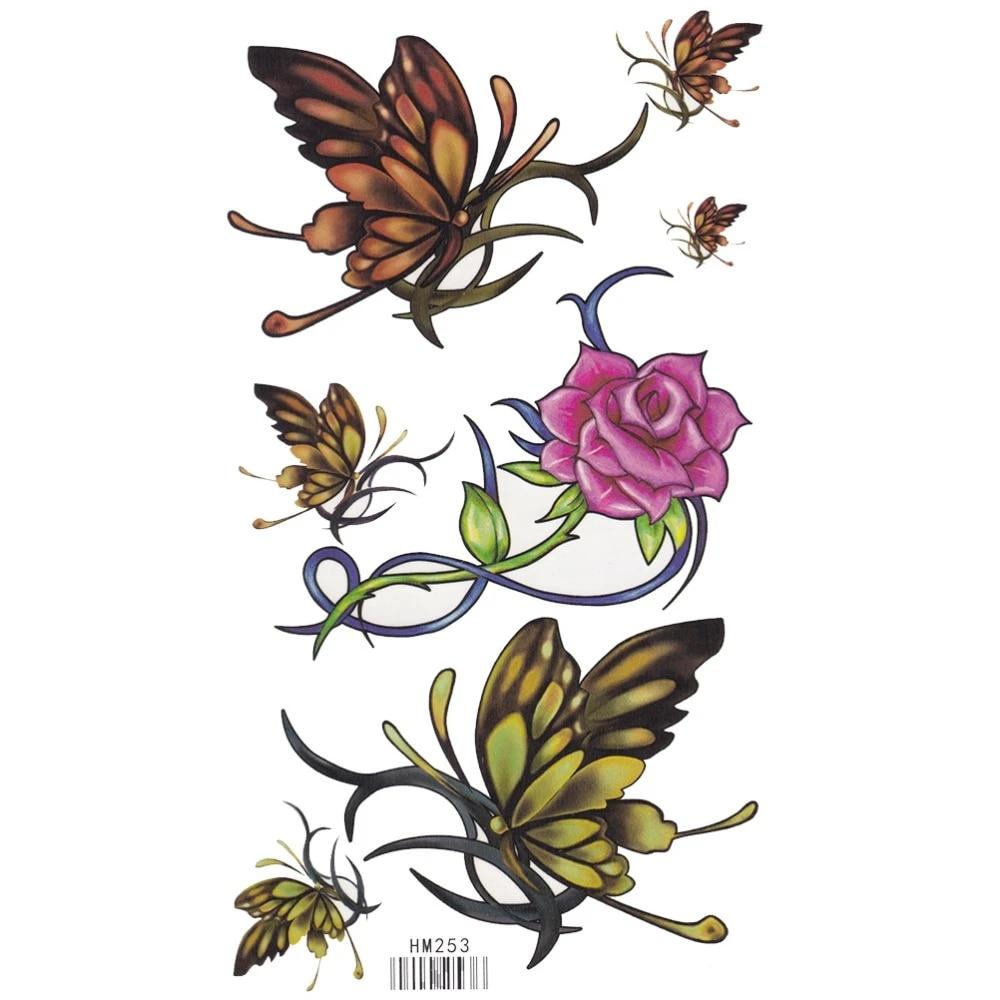 Bloem tattoo vlinder Bloem En