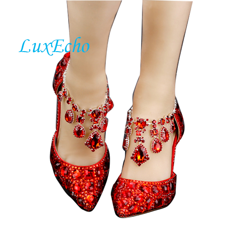 Pink rhinestone pointed toe bridal shoes woman ultra high heels red sole wedding shoes party shoes formal dress wedding shoes pointed toe high heels for wedding party rhinestone covered bridal dress shoes stiletto heel banquet pumps white pink red color