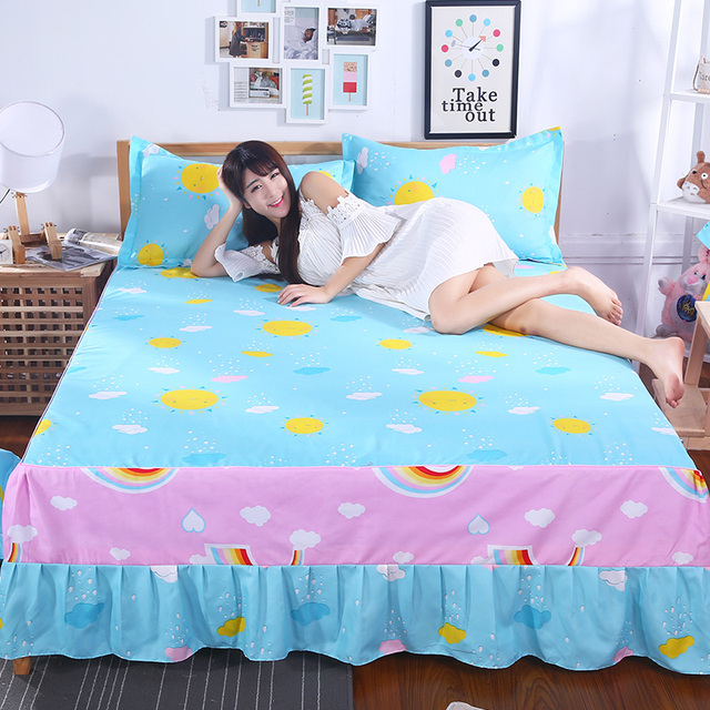 cotton bed skirt cover bedspread mattress cover elegant flower bed covers sheets twin full