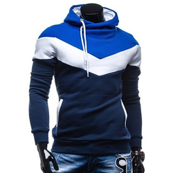 Fashion Autumn Hoodies Men Sweatshirt Male Stitching Hooded Hip Hop Long Sleeve Sweatshirt Men Silm Hoodies Outwear 2