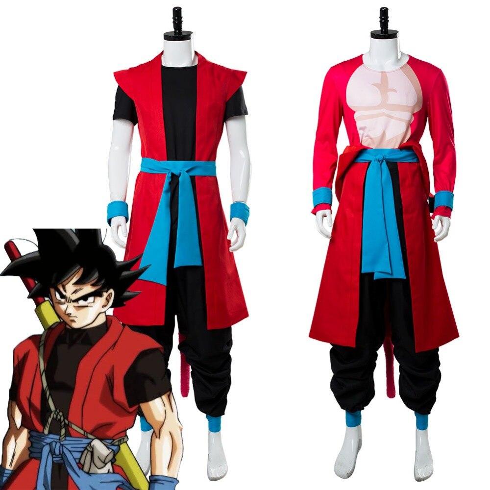 Super Dragon Ball Heroes:Universe Mission Son Goku ZENO Saiyan 4 Cosplay Costume