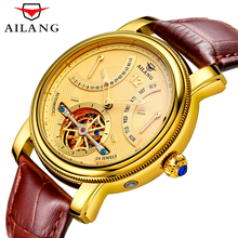 Mens Watches Top Brand Luxury AILANG Watch Men Military Sport Luminous Automatic Mechanical Leather Wristwatch montre homme