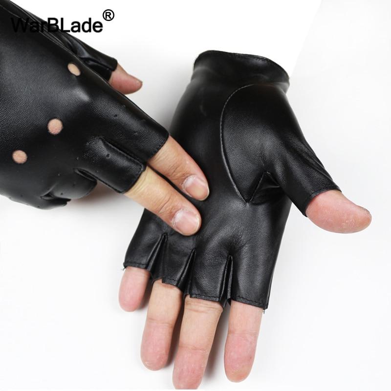 WarBLade High Qualtiy Kids Leather Gloves Boy Girls Fingerless Gloves Chilidren Half Finger Mittens Breathable Gants Enfants