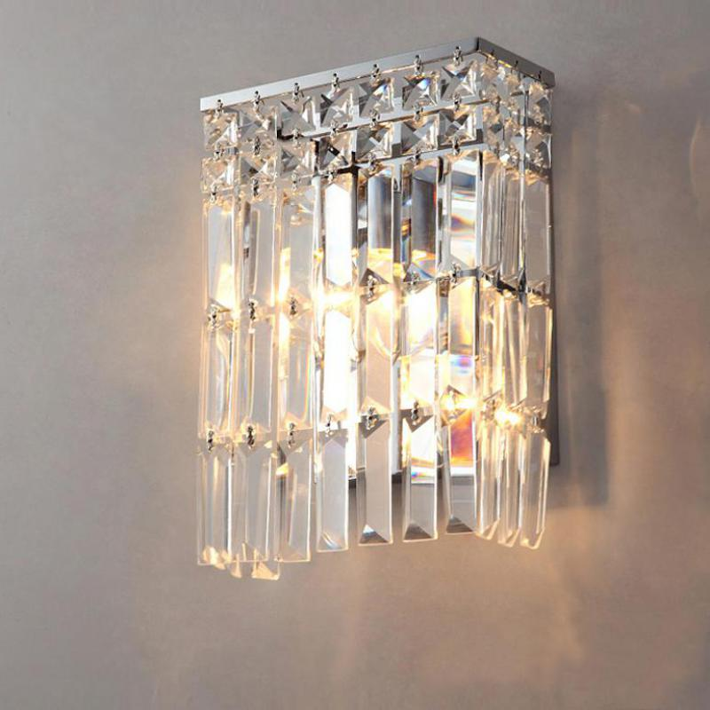 crystal wall sconce for Bar coffee shop Arandela bathroom crystal light Mirror led crystal wall lamp home interior wall lighting  mirror high quality k9 crystal led wall lamp sconce post modern coffee shop decatarion lighting fixture indoor wall lamps abajur