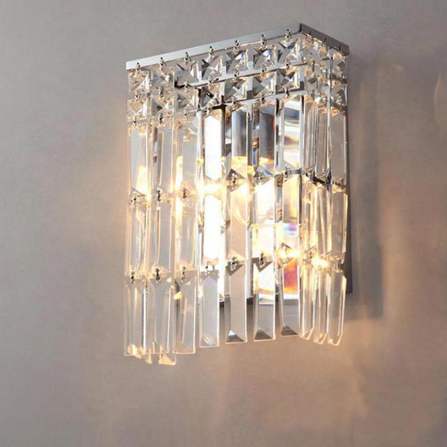 svitz clear crystal wall sconce for Bar bedroom Arandela bathroom Mirror led crystal wall lamp home indoor wall lighting fixture