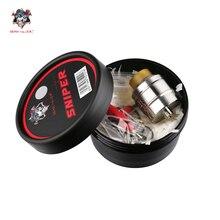 Original Demônio Assassino Atirador RDA Atomizador Cigarro Eletrônico 24mm de Diâmetro Tanque para Vape Mods Mech Vaporizador Kit Cigarros eletrônicos