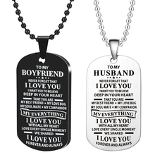 Engraving Personalized  High Grade Couple Nameplate Necklace Stainless Steel Pendant Women/Men Valentines Day Gift