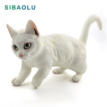 Simulation Big Persian Cat Animal model figurine home decor miniature fairy garden decoration accessories modern Plastic toys