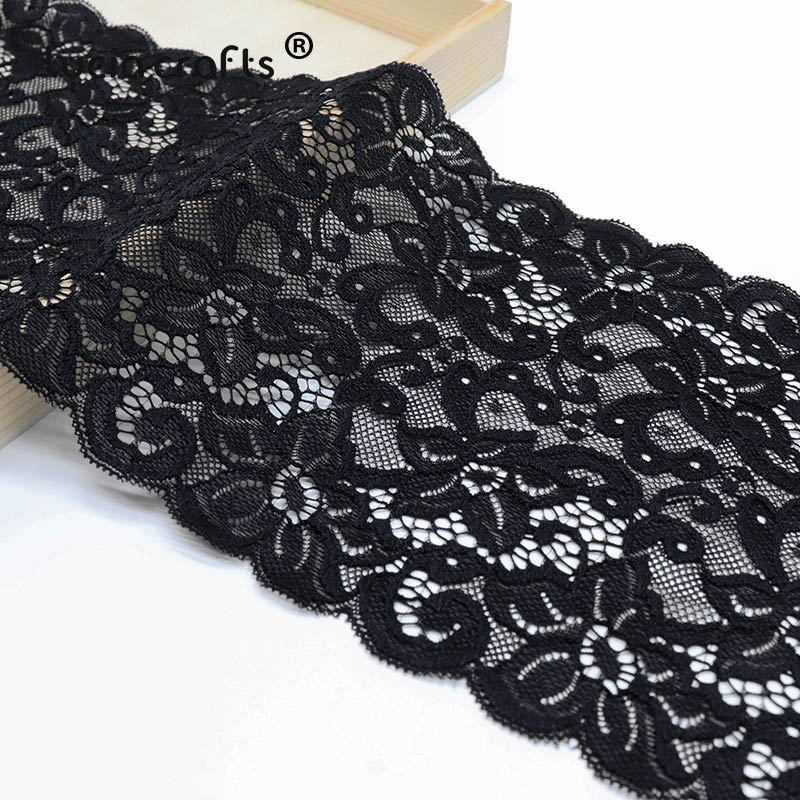 Apparel Sewing & Fabric 1yard/lot 17cm Black Embroidered Lace Fabric Elastic Lace Trim Ribbon Tape Diy Sewing Garment Wedding Decoration Accessories Lace
