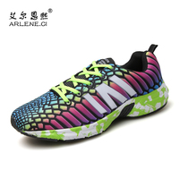 Mens Colorful Tide Sports Shoes Comfortable Lace Up Breathable Sneakers Jogging Non Slip Damping Cool Track