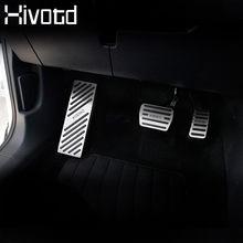 Hivotd – couvercle de pédale d'accélérateur pour Skoda, tampons décoratifs pour pédale d'accélérateur, pédale de frein, accessoires de Modification intérieure, 2017 – 19