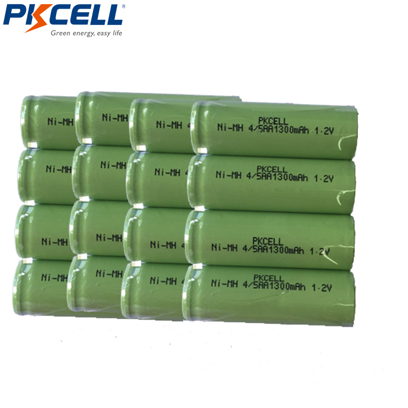 15pcs/lot 1.2V 4/5AA NIMH rechargeable battery 1300mah 14430 4/5 AA ni-mh cell DIY for electric shaver image
