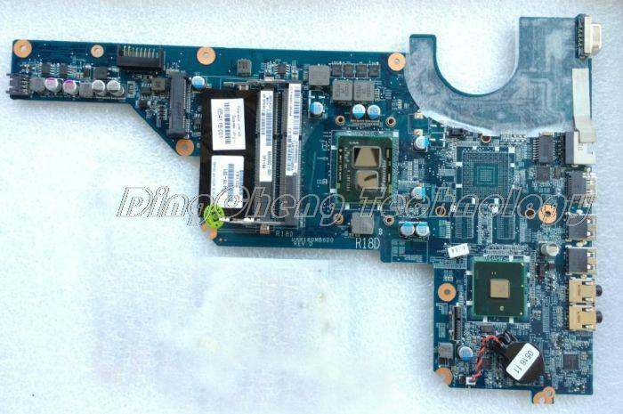 SHELI laptop Motherboard For hp compaq G4 G6 G7 654118-001 DAR18DMB6D1 HM55 I3-370M CPU DDR3 integrated graphics card