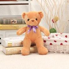 f649e919c05 Sobre 35 cm luz marrom ursinho de pelúcia urso de brinquedo de pelúcia  bonito bowtie macio boneca