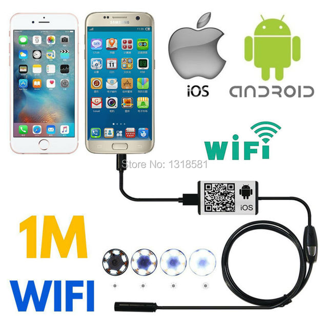 Wireless Wifi Endoscope 8mm 1/1.5/3.5/5m Android Camera Borescope HD 720P Waterproof Inspection IOS Apple Endoscope Camera WIFI