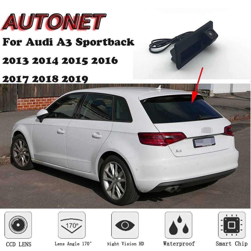 AUTONET Car Trunk Handle Camera For Audi A3 Sportback 2013 2014 2015 2016 2017 2018 2019 Night Visioin Backup Rear View Camera