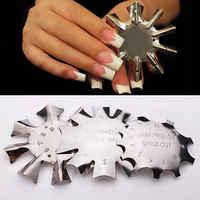 Recortador de bordes fácil corte de sonrisa francesa + profesional 1-9 tamaños en forma de V cortador francés manicura herramienta de Arte de uñas gel UV recortador de puntas de polietileno