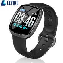 Letike Nova tela sensível ao toque completa relógios relógio inteligente 24 h/Sangue 12 h formato da hora & brilho Da Tela ajustável pressão smartwatch