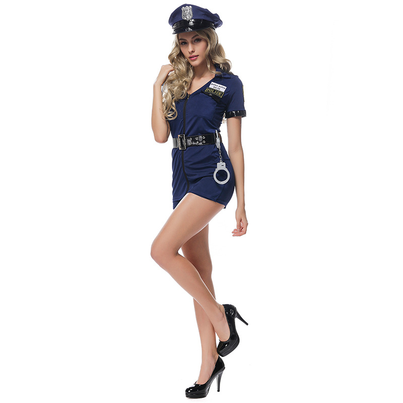 Image 4 - VASHEJIANG Sexy Police Costume for Adult Women Police Role Game Play Outfits Woman Policewoman Cosplay Uniform with Hat-in Movie & TV costumes from Novelty & Special Use