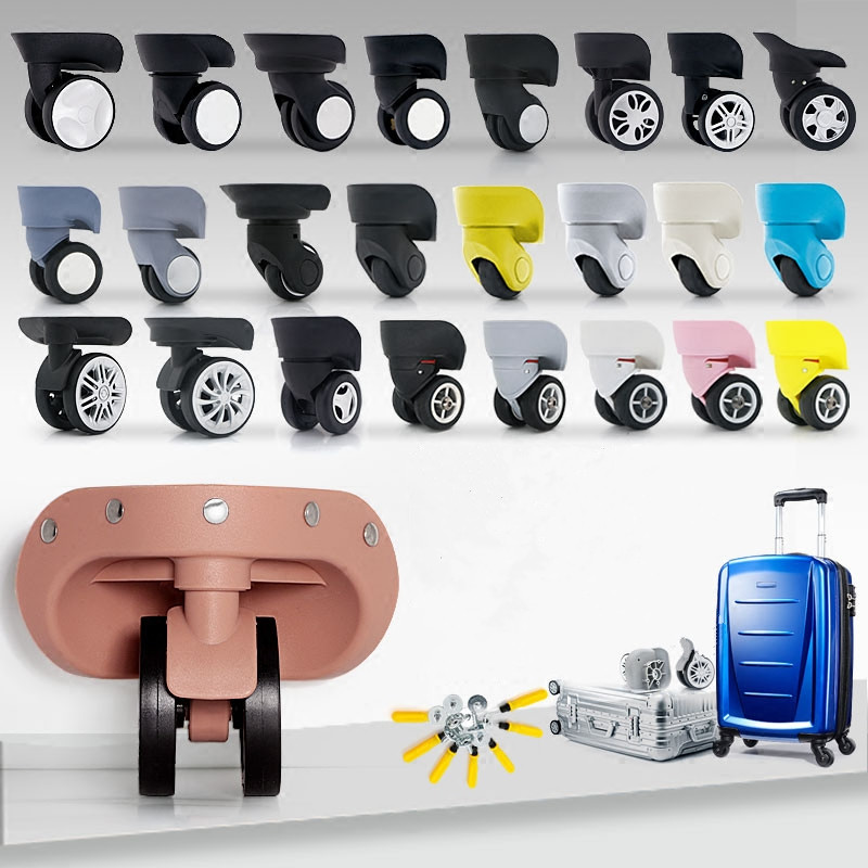 2pcs High quality Luggage Trolley Caster Replacement Office Chair Swivel Casters trolley wheel Rubber Furniture Hardware 2pcs black plastic 40mm replacement angle brake swivel casters office chair sofa wheels rolling roller caster furniture hardware