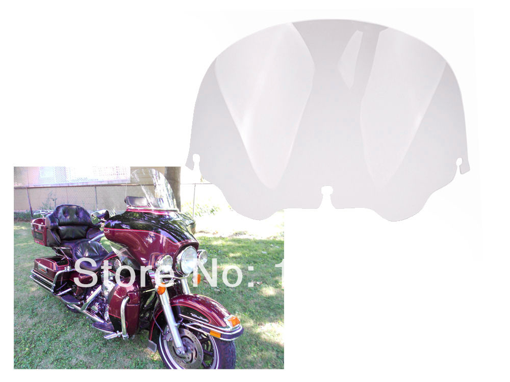 Free Shipping Clear 12  Windshield Windscreen For Harley Davidson FLHT FLHTC FLHX Touring