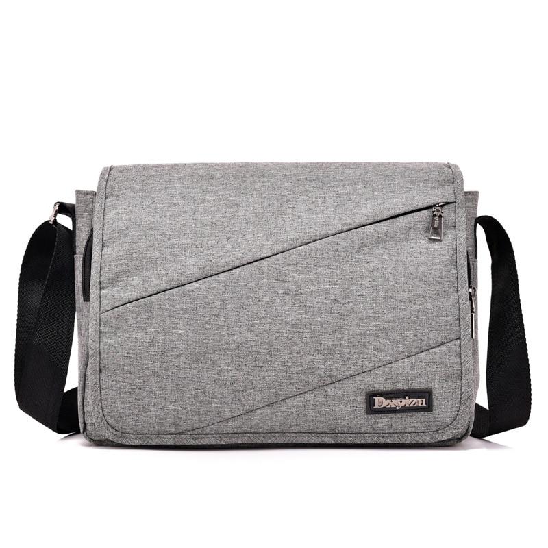 New Men Messenger Bag High Quality Shoulder Bag For Women Business Travel Crossbody Bag Soft Handle Polyester Handbag Bags Grey