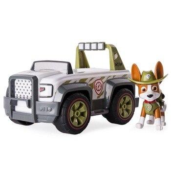 Hot Original Paw Patrol Paw Patrol, Jungle Rescue, Tracker's Jungle Cruiser ryder Everest apollo Vehicle and Figure children toy